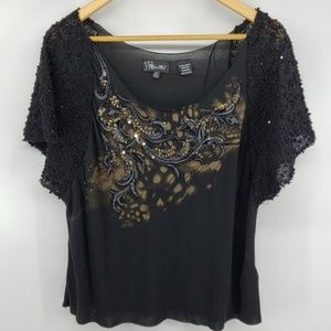 Miss Me Sequins Knitted Sleeve Top